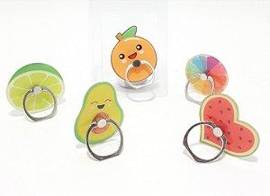 Suporte De Dedo Para Celular Pop Sockets Com Argola - Temático Frutas