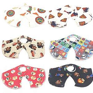02 Máscaras De Proteção Facial Neoprene Infantil - Personagens
