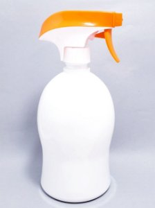 Frasco Borrifador De Plástico Com Válvula Gatilho 800ml - Branco