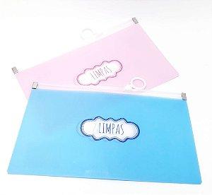 Porta Máscaras Limpas De Plástico Com Zíper - Colorido