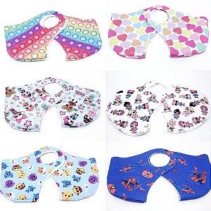 02 Máscaras De Proteção Facial Neoprene Infantil - Estampada I