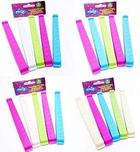 Prendedores Para Embalagens Com 5 Unidades - Colorido