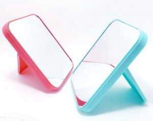 Espelho De Mesa Com Moldura De Plástico - Colorido