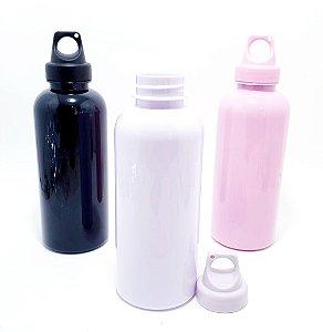 Squeeze De Plástico 600ml Com Tampa - Colorido Liso
