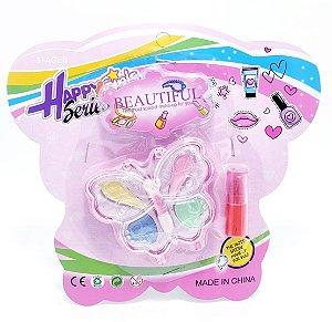 Kit Maquiagem Infantil - Temático Borboleta