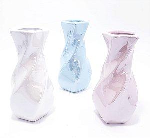 Vaso Torcido De Cerâmica - Holográfico