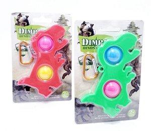 Chaveiro Pop It Colorido Com Mosquetão - Dinossauro