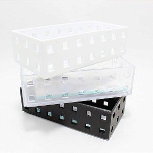 Caixinha Organizadora Multiuso De Plástico Colorido - Interponte