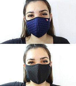 Máscara De Proteção Facial De Algodão - Tons Escuros