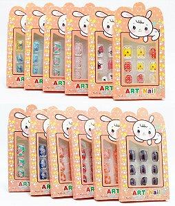 Embalagem Com 12 Unhas Postiças Infantil - Decoradas I