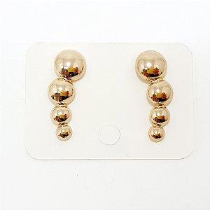 Brinco Ear Cuff Bolinha Grande Dourado - REF: PT0204