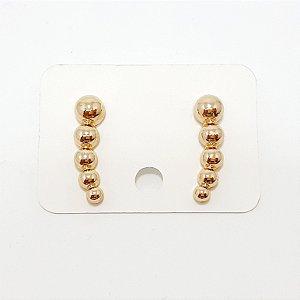 Brinco Ear Cuff Bolinha Média Dourado - REF: PT0190