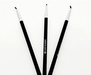 3 Pinceis De Maquiagem Para Delinear Fino Com Cabo Preto - Sabrina Sato