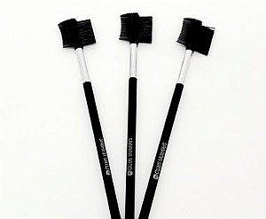 3 Pinceis De Maquiagem 2 em 1 Pente/Escova  - Sabrina Sato
