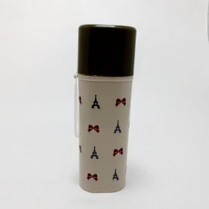 Porta Escova De Dentes De Plástico Com Tampa Removível  E Alça - Bege - Laços