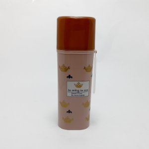 Porta Escova De Dentes De Plástico Com Tampa Removível  E Alça - Coroa - Rosé