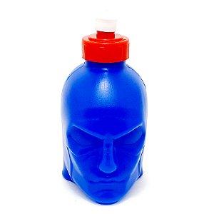 Squeeze De Plástico 3D Com Tampa E Bico 450 ml - Capitão América Azul