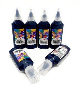 6 Tubos De Cola Colorida 21g  Preto- Win Paper