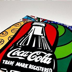 Placa Decorativa Mosaico Coca-Cola