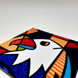 Placa Decorativa Mosaico De Águia