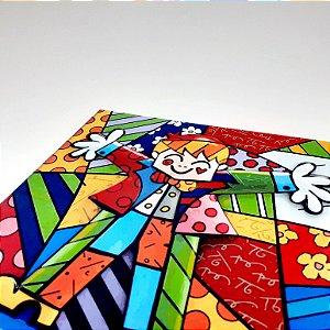 Placa Decorativa Mosaico De Menino Feliz
