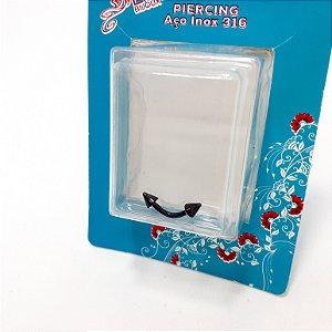 Piercing Nostril De Aço Inox 316 Com 1 cm - Preto