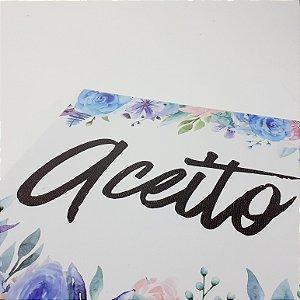 """Placa Decorativa Com Frase Motivacional """"Aceito"""""""