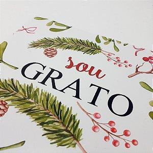 """Placa Decorativa Motivacional Com Frase """" Sou Grato"""""""