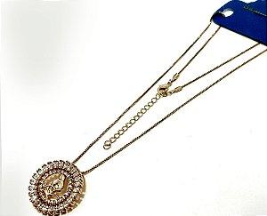Colar Dourado Com Pingente De Pedra Do Signo do Zodíaco - Virgem