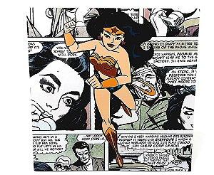 Placa Decorativa Heróis - Mulher Maravilha Em Gibi