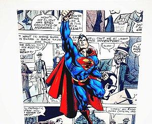 Placa Decorativa Heróis  - Superman Em Gibi