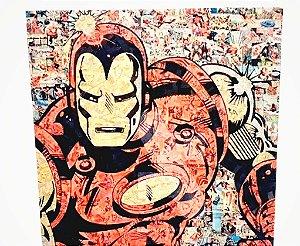Placa Decorativa Heróis  - Homem De Ferro Em Gibi
