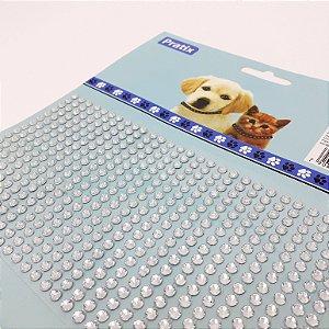 Adesivo Decorativo De Pedrinhas Prata Para Pets - Pratix