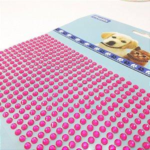 Adesivo Decorativo De Pedrinhas Pink Para Pets - Pratix
