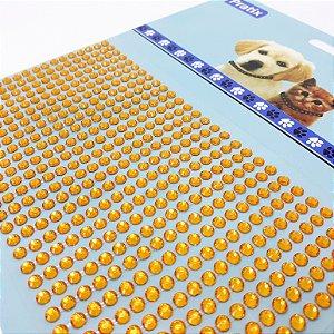 Adesivo Decorativo De Pedrinhas Amarelo Para Pets - Pratix