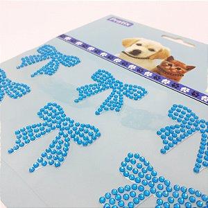 Adesivo Decorativo De Lacinho Azul Para Pets - Pratix