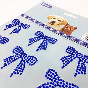 Adesivo Decorativo De Lacinho Azul Escuro Para Pets - Pratix
