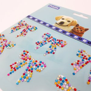 Adesivo Decorativo De Lacinho Colorido Para Pets - Pratix
