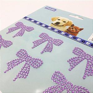 Adesivo Decorativo De Lacinho Lilás Para Pets - Pratix