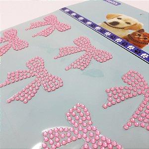 Adesivo Decorativo De Lacinho Rosa Para Pets - Pratix