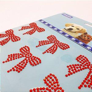 Adesivo Decorativo De Lacinho Vermelho Para Pets - Pratix
