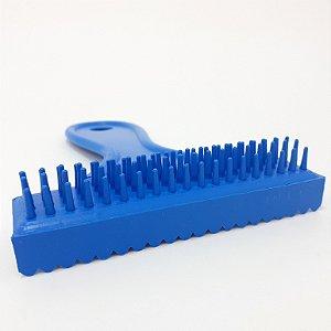 Escova E Pente De Plástico  Azul Para Cães/Gato
