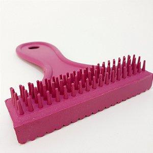 Escova E Pente De Plástico Rosa Para Cães/Gato