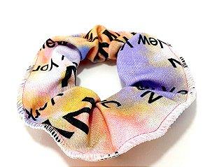 Elástico Para Cabelo Scrunchie Tie Dye - Lilás