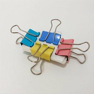 Prendedores Para Papel Colorido Em Tons Pasteis 25mm Embalagem Com 4 unidades - Gifthome