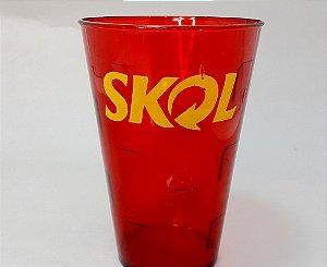 Copo Plástico Vermelho Tema Cerveja - 450ml