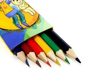 Caixa Com 6 Lápis De Cor - CX01 Amarelo