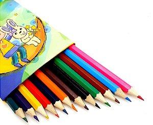 Caixa Com 12 Lápis De Cor - CX04 Amarelo