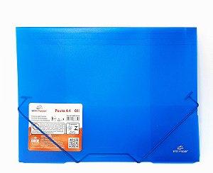 Pasta Escolar A4 Com Elástico Azul - WinPaper