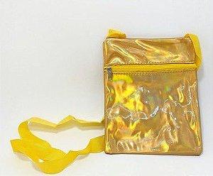 Bolsa Feminina Pequena Com Alça - Dourada